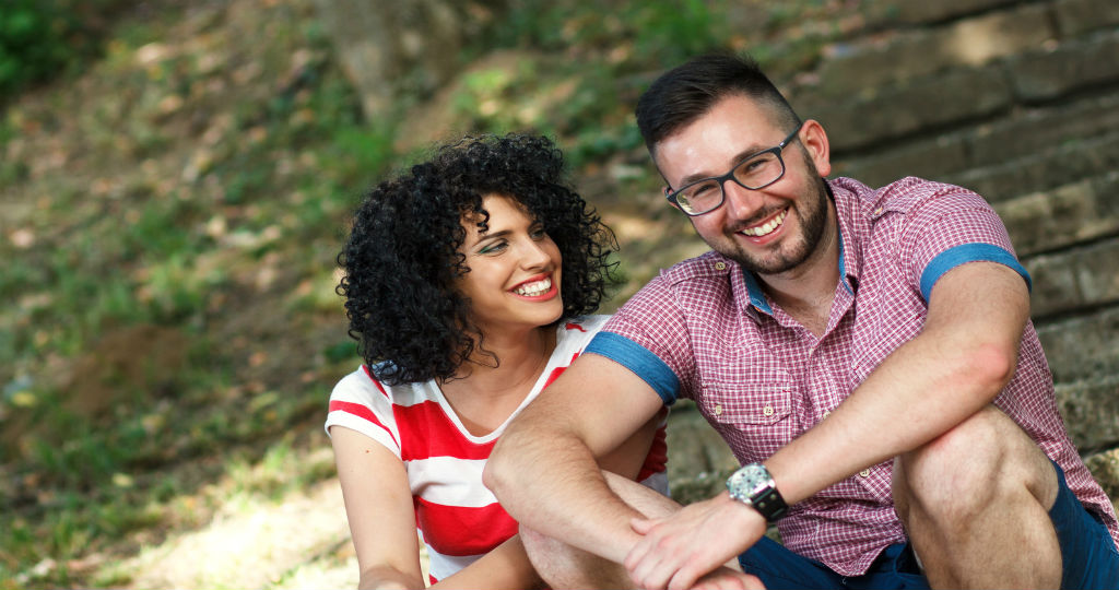 man and woman considering couples counseling