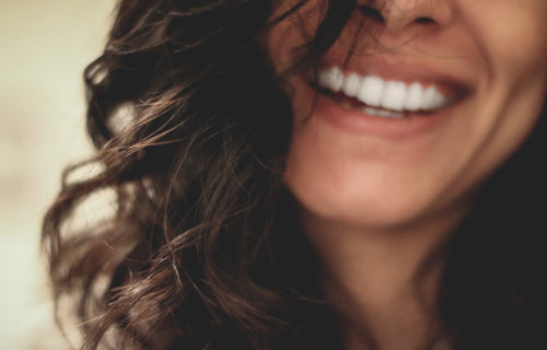 adult woman smiling